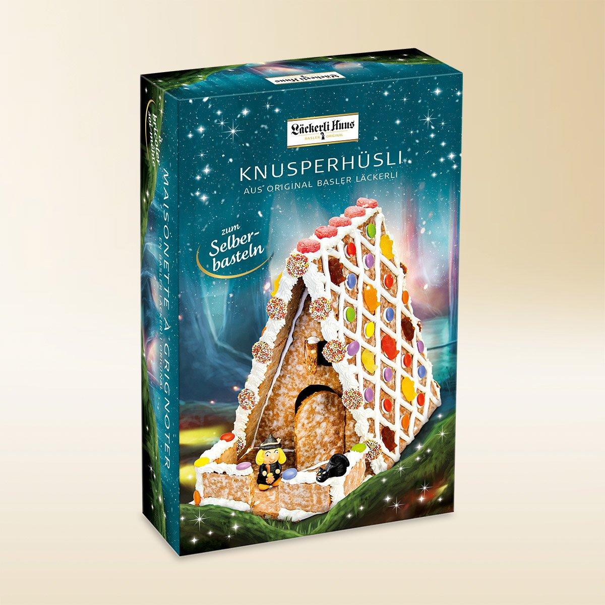 Gingerbread House Made Of Basler Lackerli Original 1165g