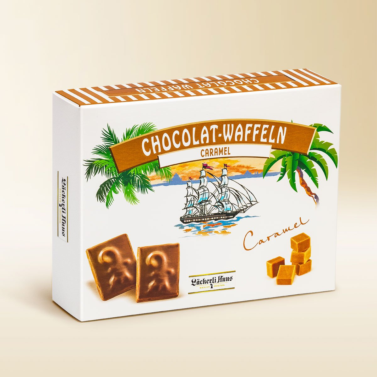 Chocolate wafers caramel 195g