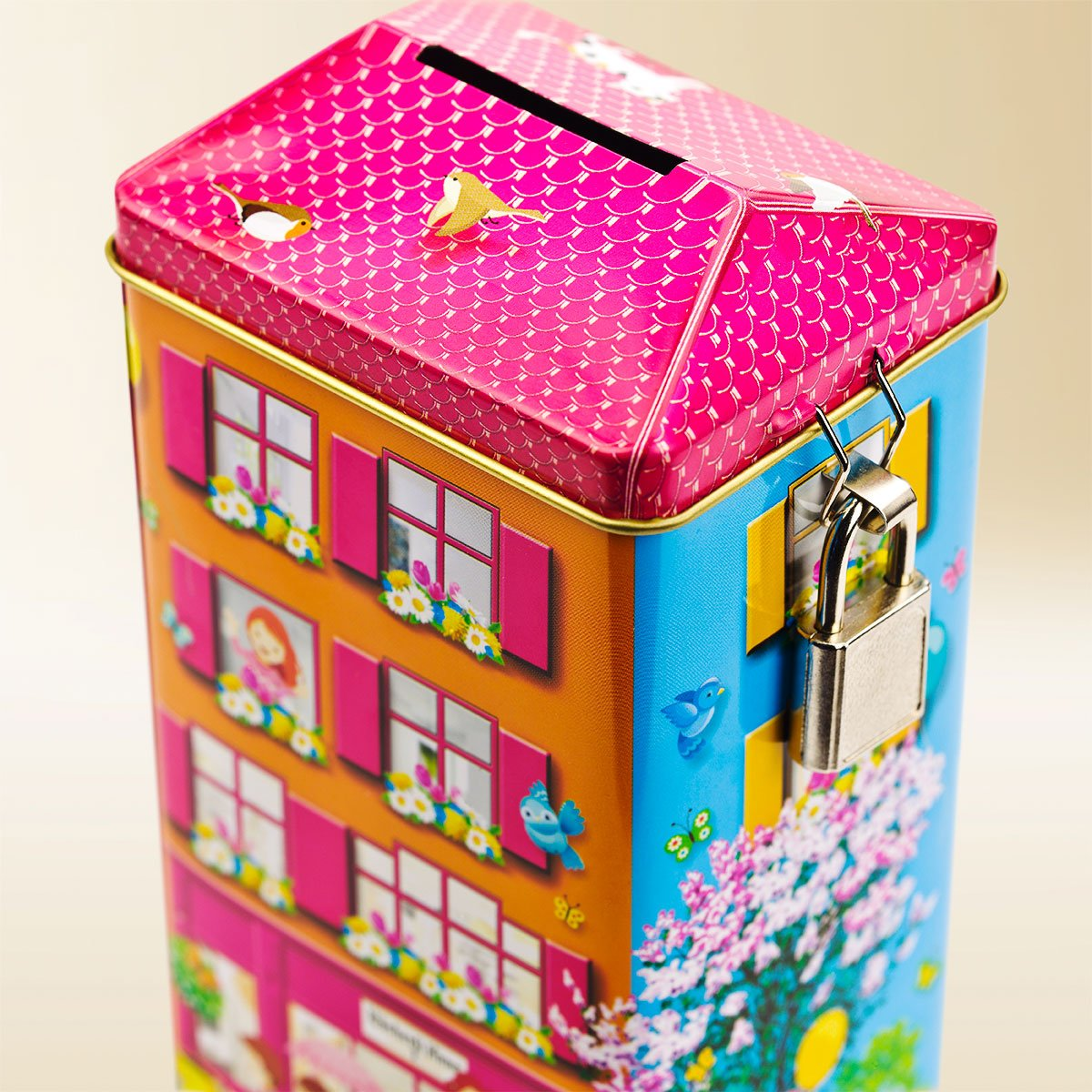 Piccolo money box tin Basler Läckerli Piccolo 180g