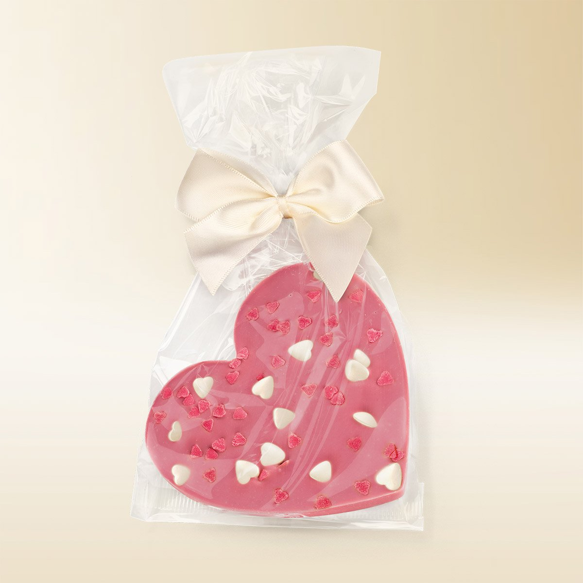 Ruby chocolate heart 80g
