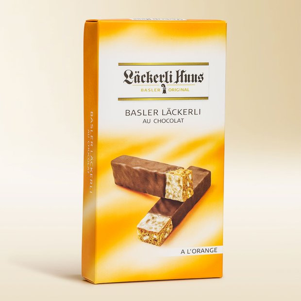 Basler Läckerli au chocolat «à l'orange» 160g