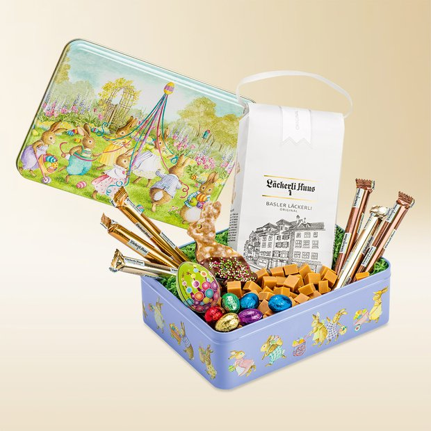 Dancing bunnies tin 670g