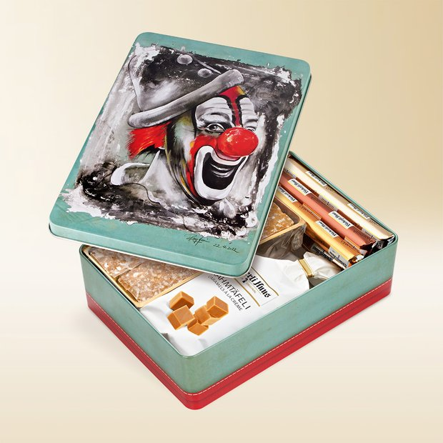 Clown Salut artist tin 485g