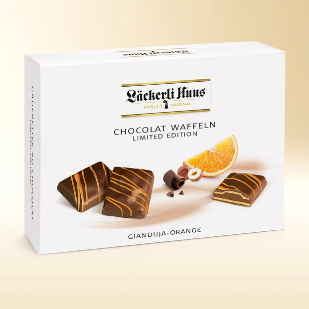 Gaufrettes au chocolat Gianduja-orange 195g