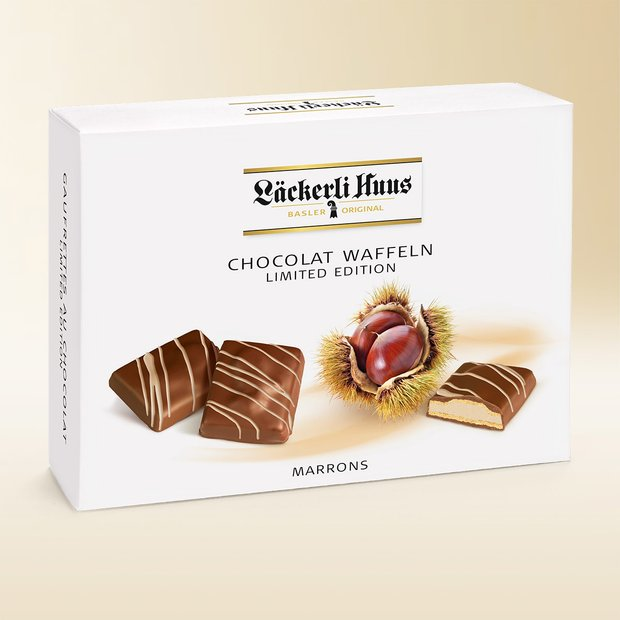 Chocolate wafers aux marrons 195g