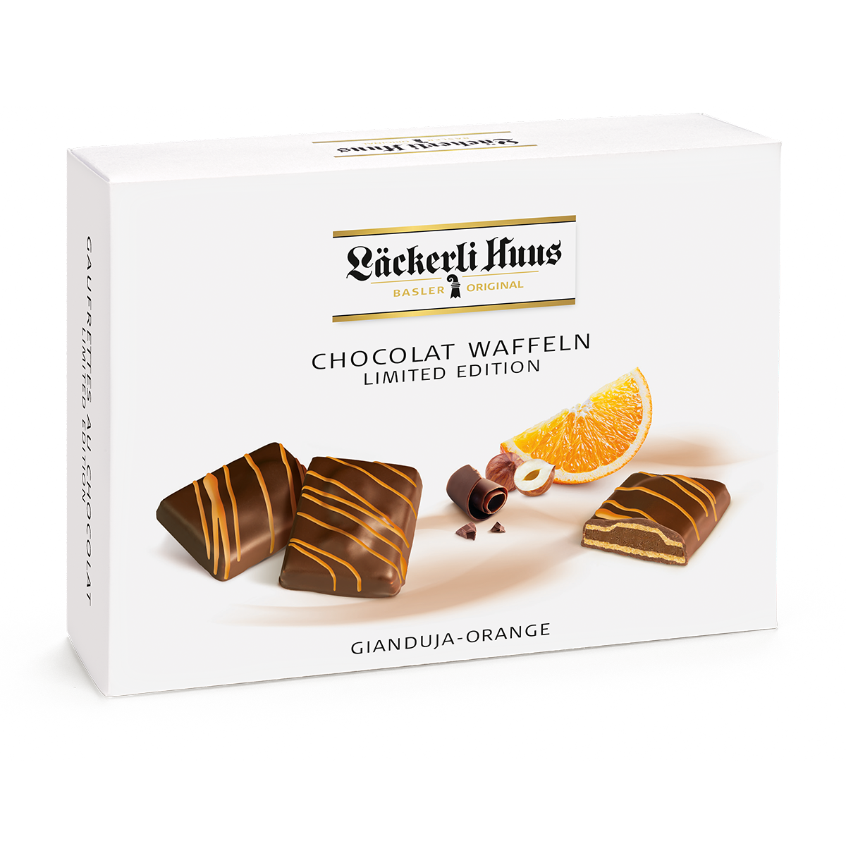 Chocolat-Waffeln Gianduja-Orange 195g